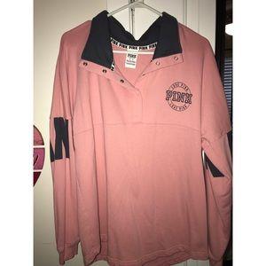 Victoria's Secret PINK button down pullover sz M